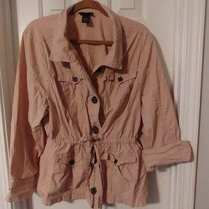 Lane Bryant safari style jacket